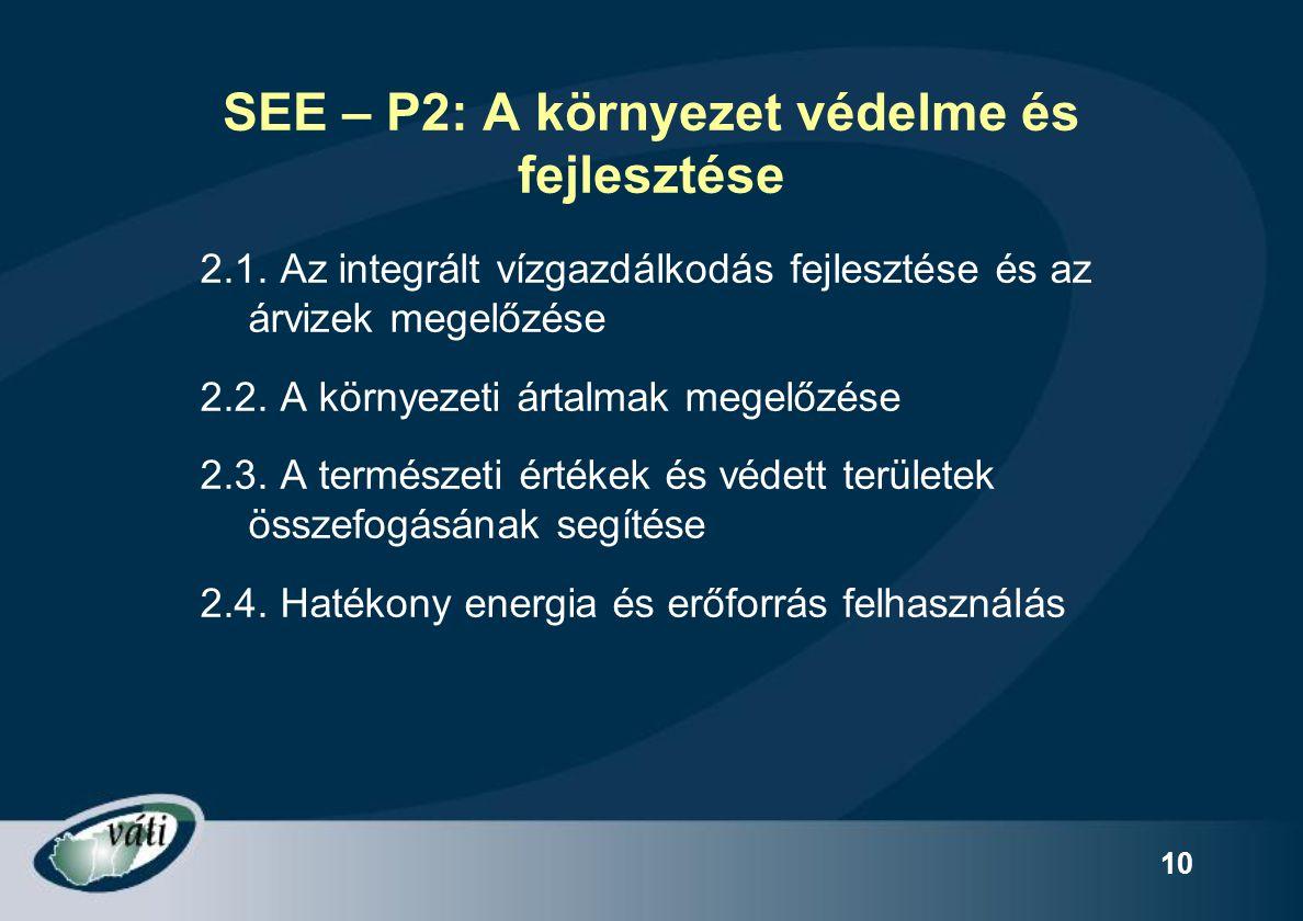 SEE – P2: A környezet védelme és fejlesztése