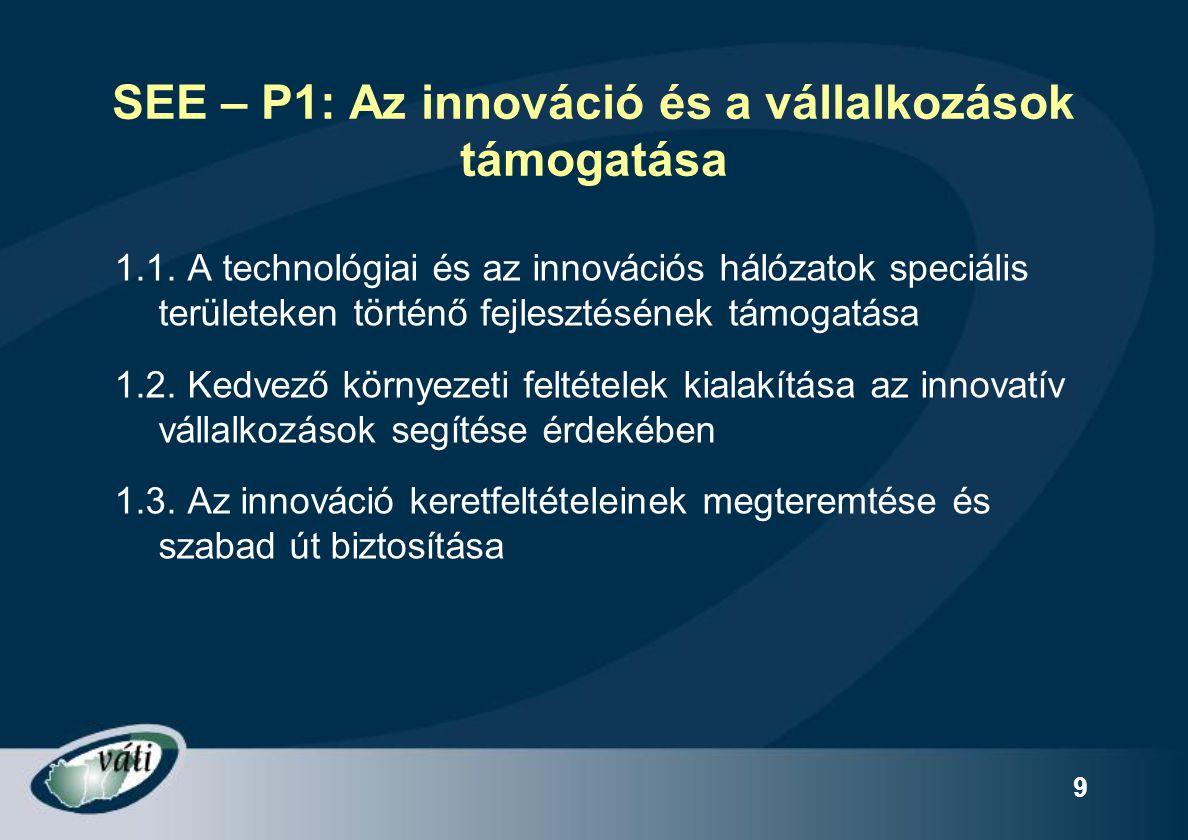 SEE – P1: Az innováció és a vállalkozások támogatása