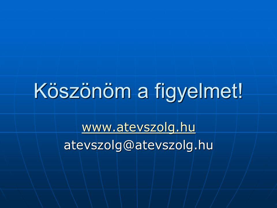 www.atevszolg.hu atevszolg@atevszolg.hu