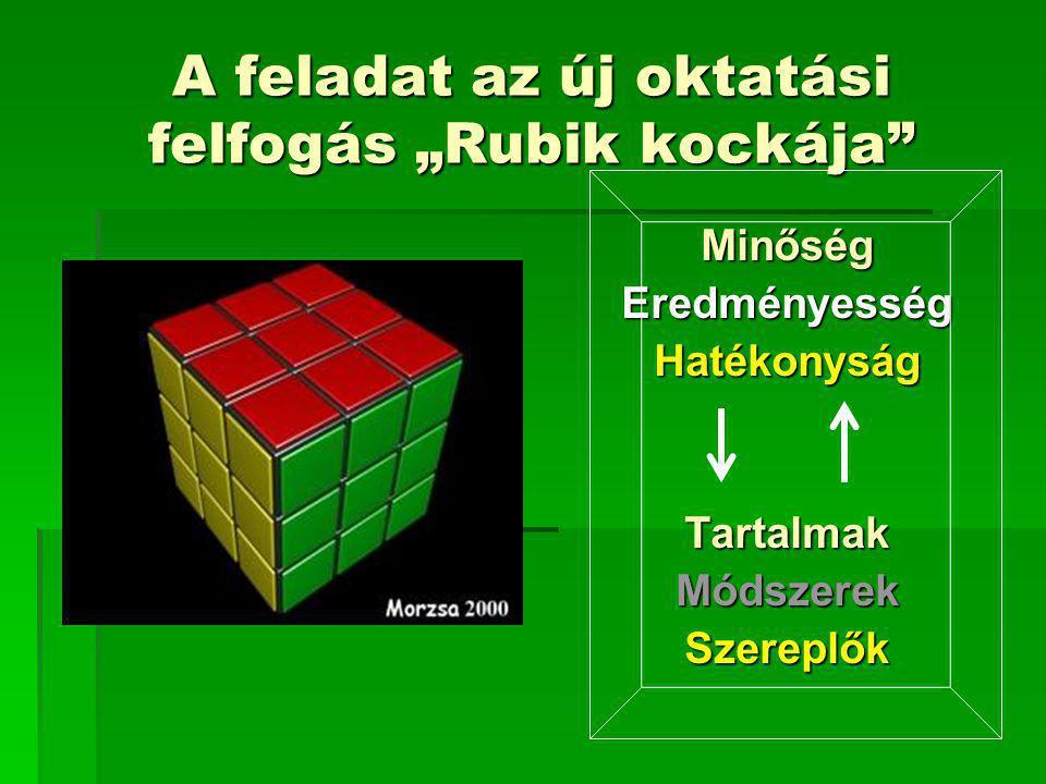 """A feladat az új oktatási felfogás """"Rubik kockája"""