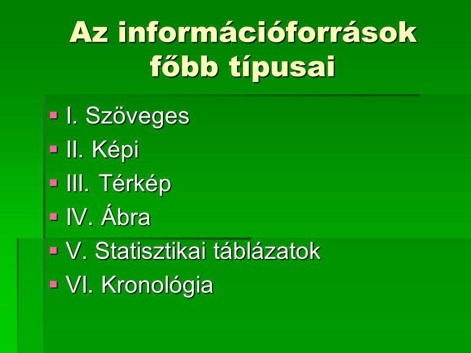 Az információforrások főbb típusai