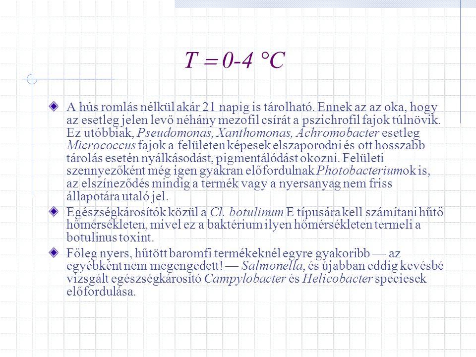 T  0-4 °C