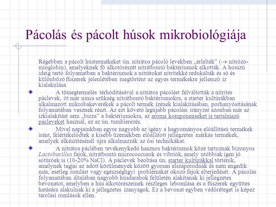Pácolás és pácolt húsok mikrobiológiája