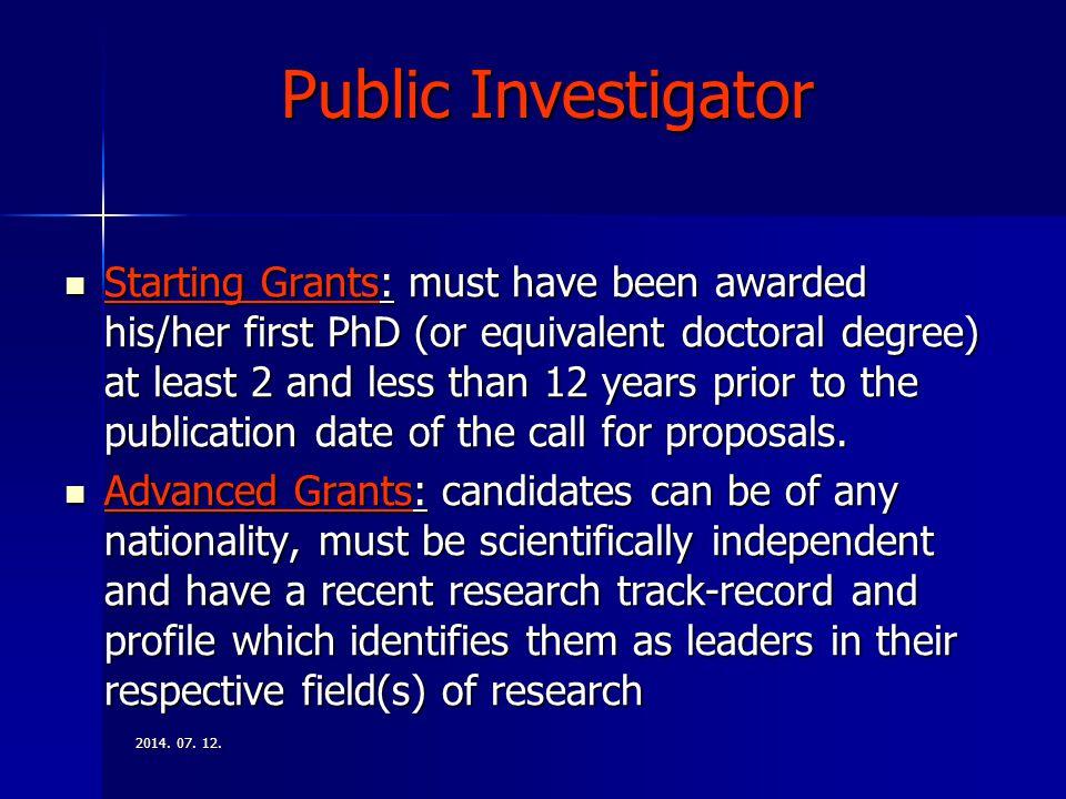 Public Investigator
