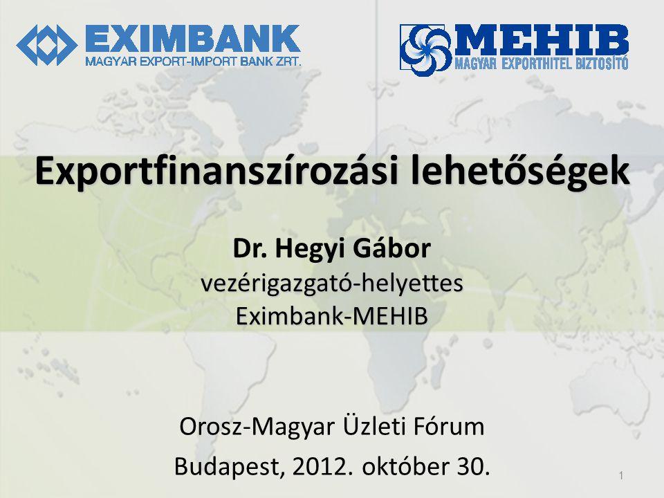 Orosz-Magyar Üzleti Fórum Budapest, 2012. október 30.