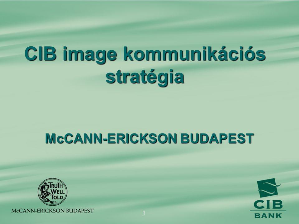 CIB image kommunikációs stratégia McCANN-ERICKSON BUDAPEST