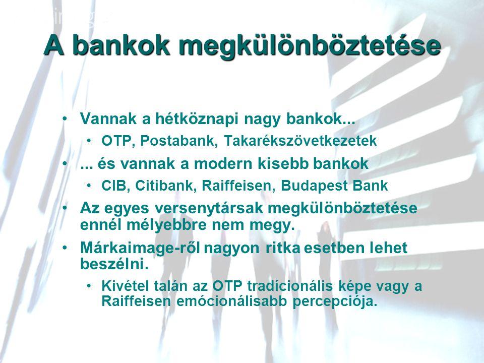 A bankok megkülönböztetése