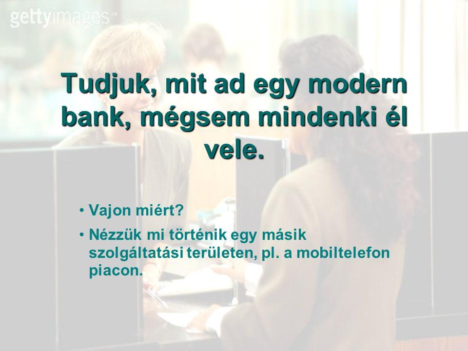 Tudjuk, mit ad egy modern bank, mégsem mindenki él vele.