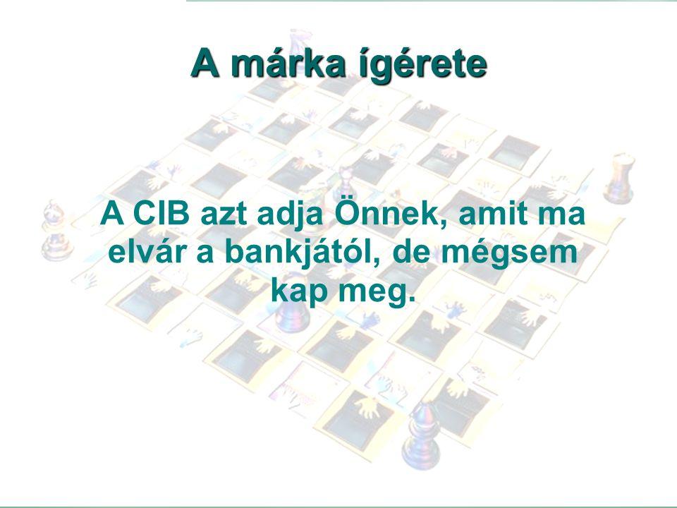 A CIB azt adja Önnek, amit ma elvár a bankjától, de mégsem kap meg.