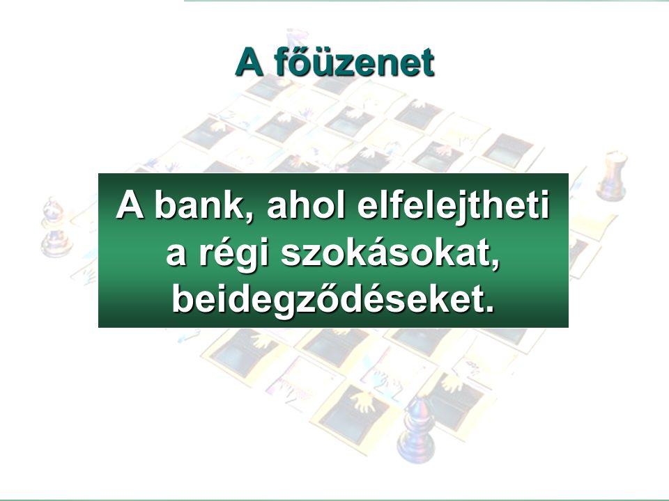 A bank, ahol elfelejtheti a régi szokásokat, beidegződéseket.