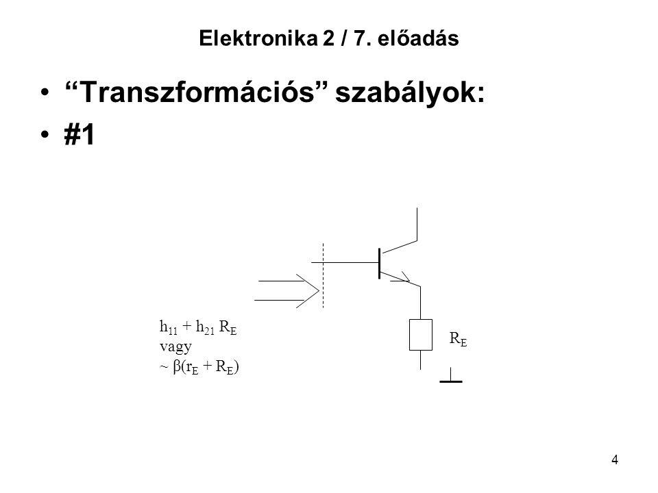 Transzformációs szabályok: #1