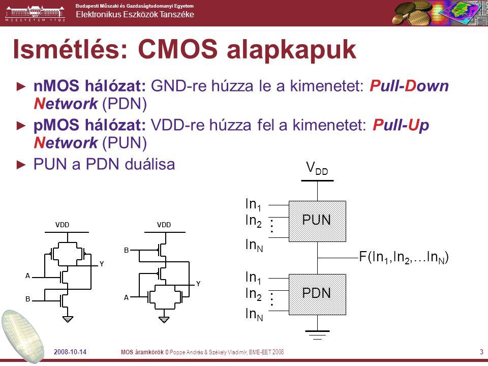 Ismétlés: CMOS alapkapuk
