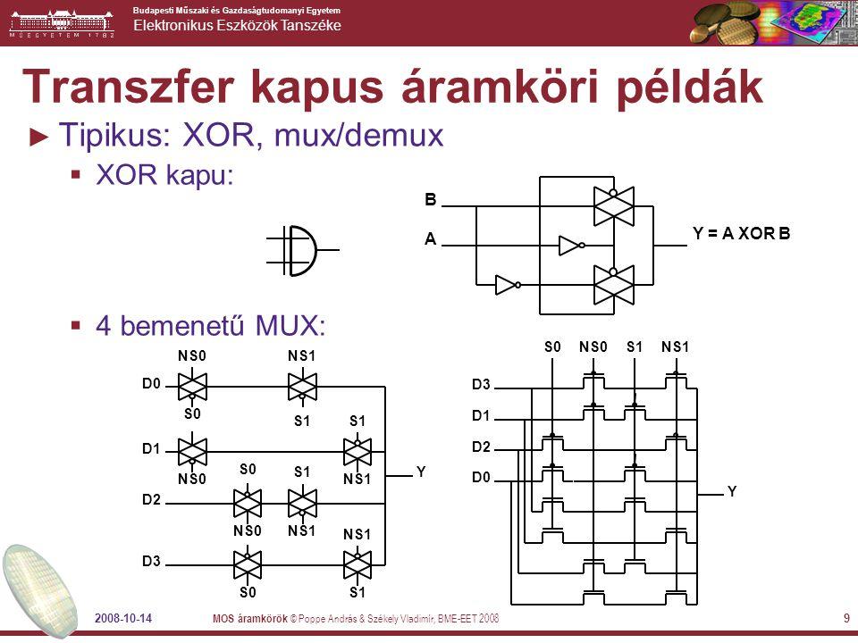 Transzfer kapus áramköri példák