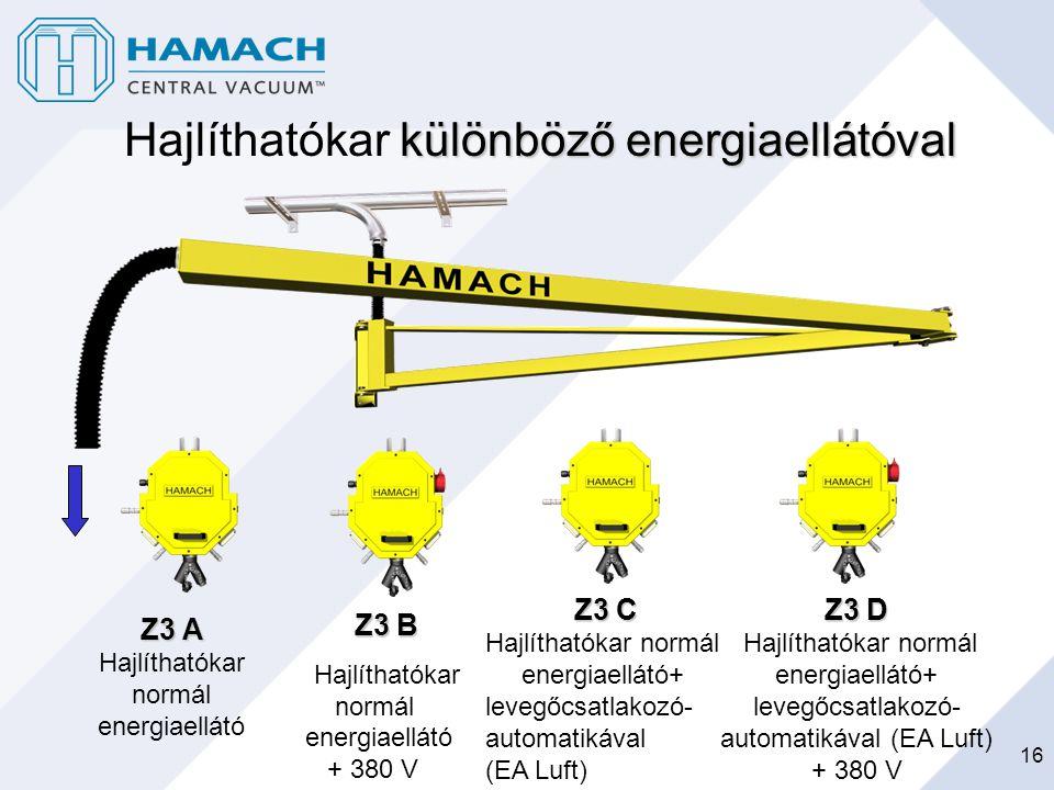 Hajlíthatókar különböző energiaellátóval