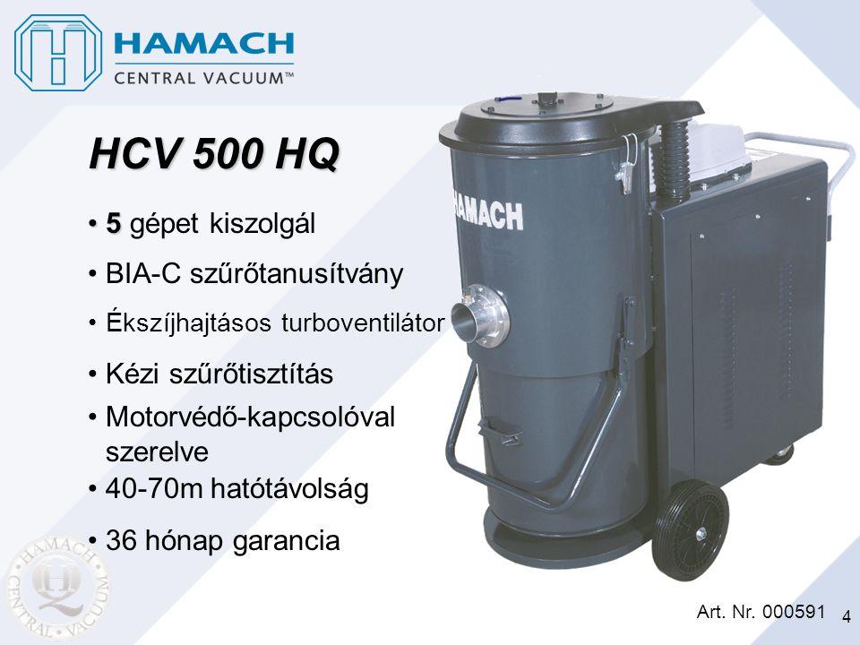 HCV 500 HQ 5 gépet kiszolgál BIA-C szűrőtanusítvány