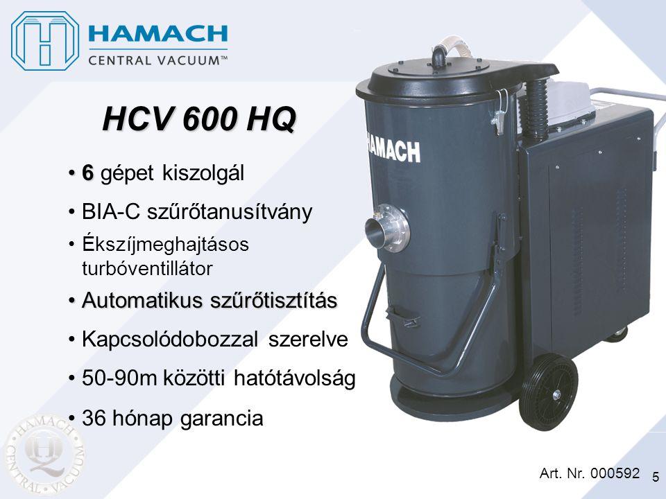 HCV 600 HQ 6 gépet kiszolgál BIA-C szűrőtanusítvány