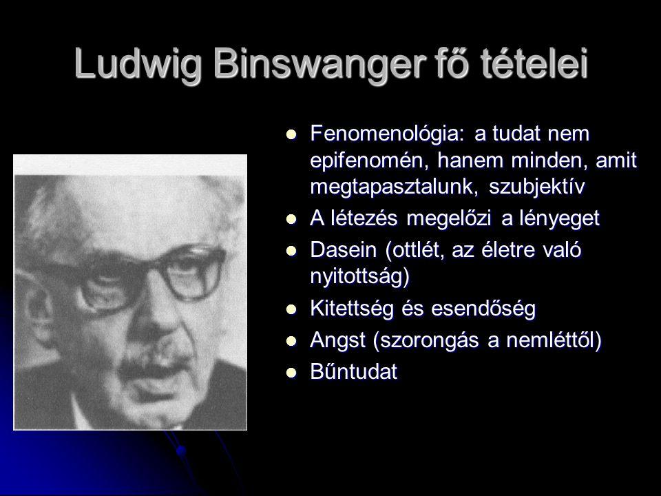 Ludwig Binswanger fő tételei