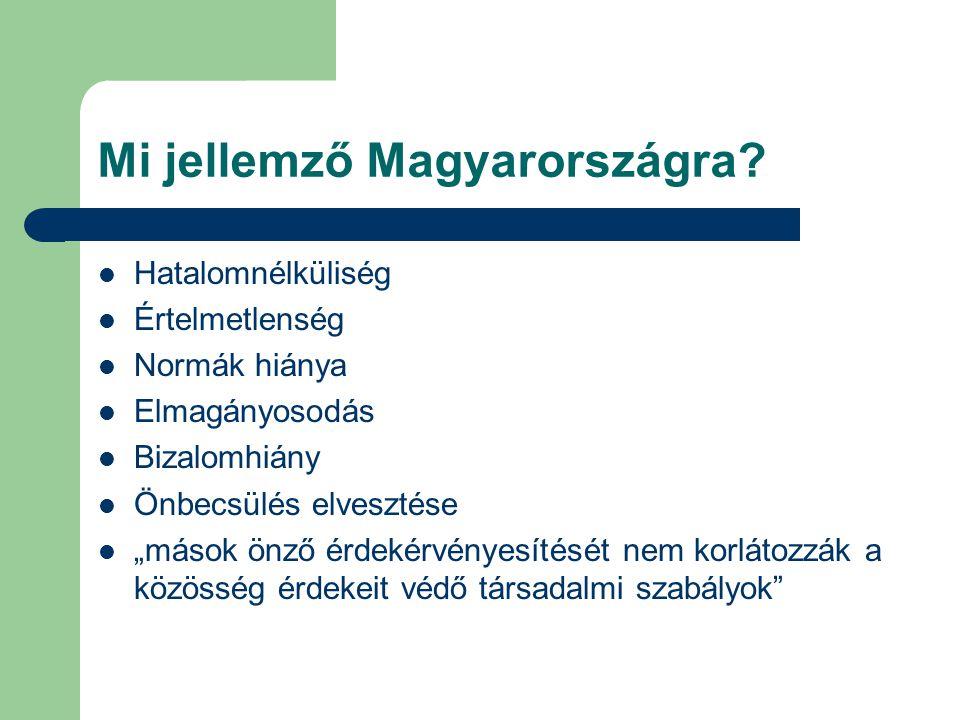 Mi jellemző Magyarországra