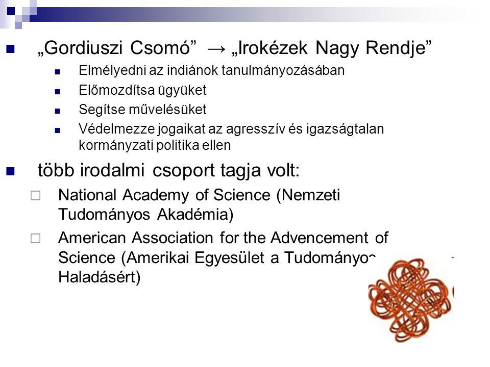 """""""Gordiuszi Csomó → """"Irokézek Nagy Rendje"""