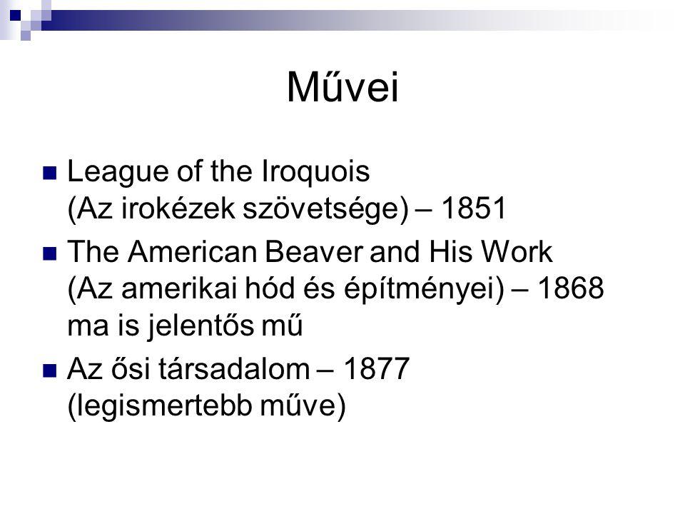 Művei League of the Iroquois (Az irokézek szövetsége) – 1851