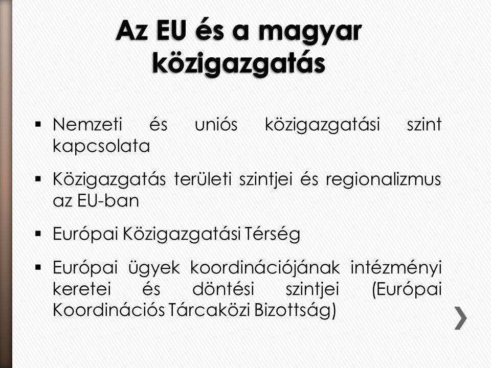 Az EU és a magyar közigazgatás
