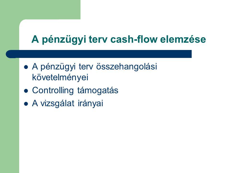 A pénzügyi terv cash-flow elemzése