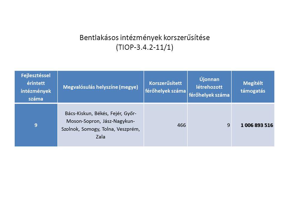 Bentlakásos intézmények korszerűsítése (TIOP-3.4.2-11/1)