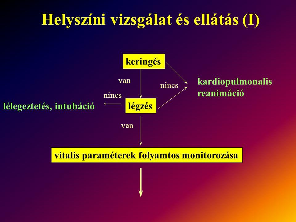 Helyszíni vizsgálat és ellátás (I)