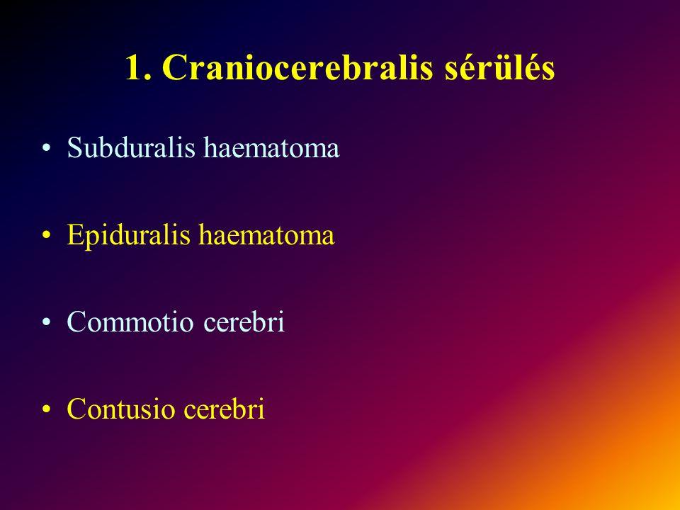 1. Craniocerebralis sérülés
