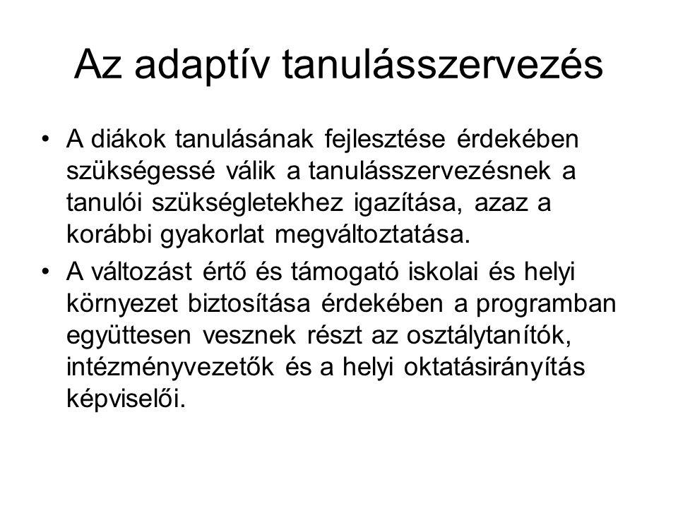 Az adaptív tanulásszervezés