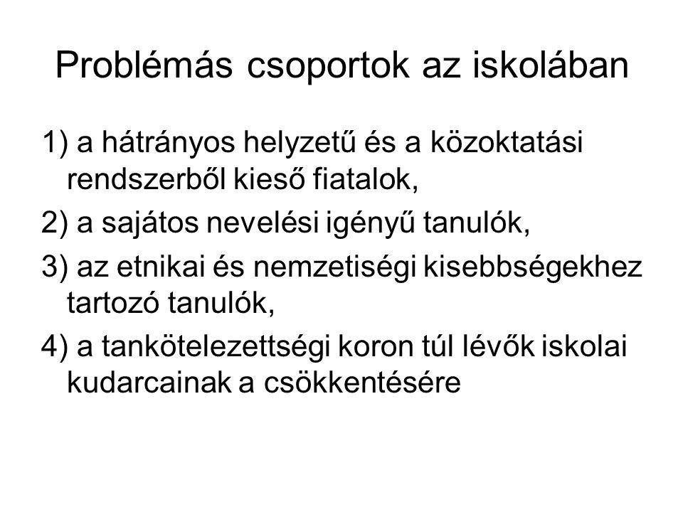 Problémás csoportok az iskolában