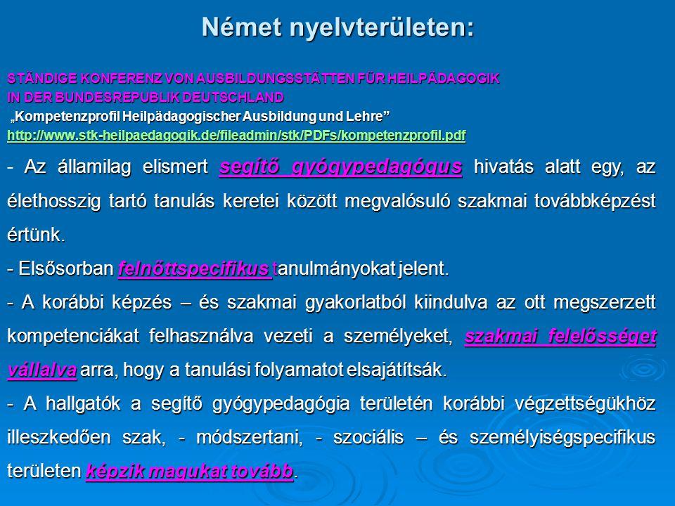 Német nyelvterületen: