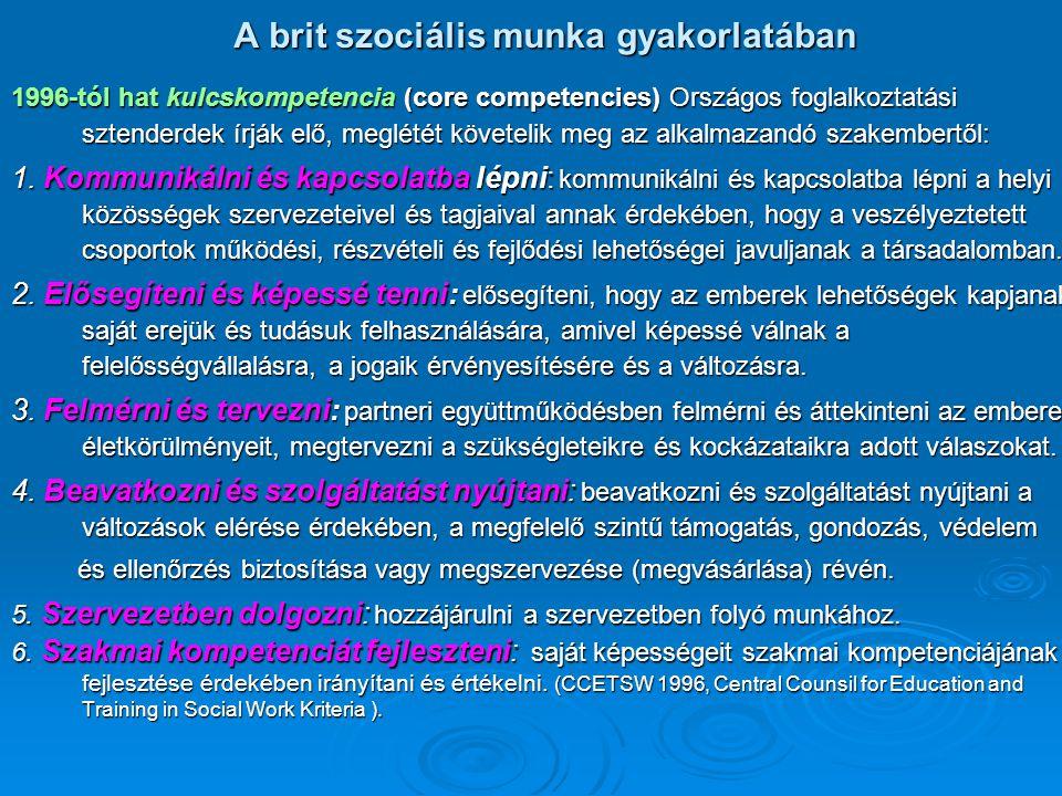A brit szociális munka gyakorlatában