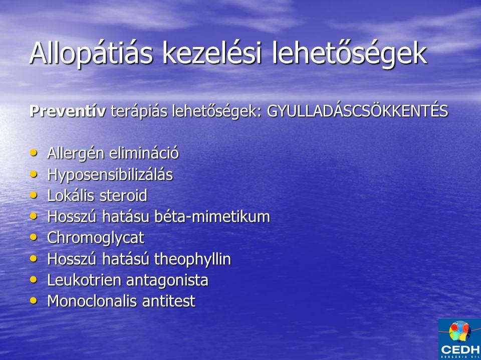 Allopátiás kezelési lehetőségek
