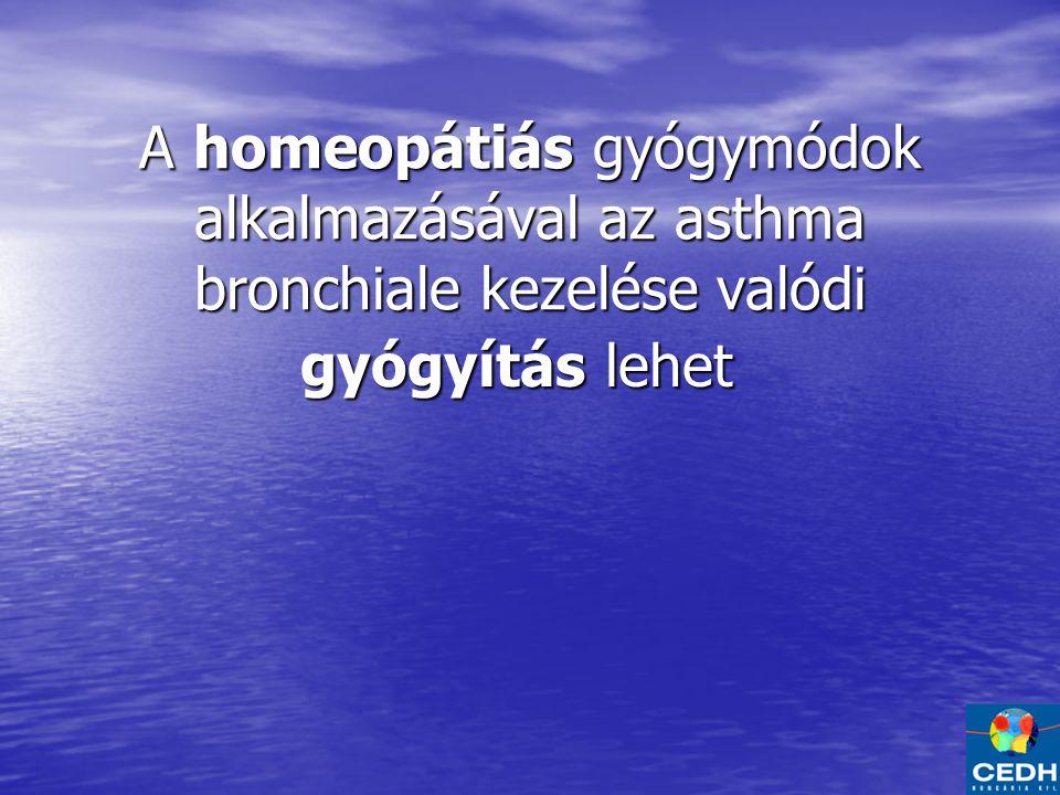 A homeopátiás gyógymódok alkalmazásával az asthma bronchiale kezelése valódi