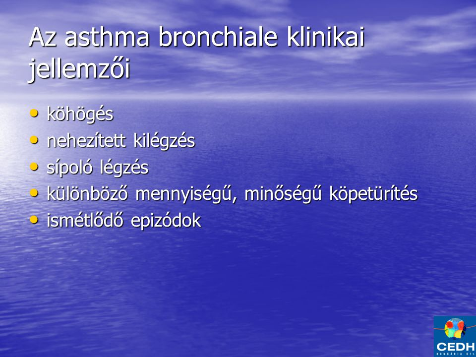 Az asthma bronchiale klinikai jellemzői