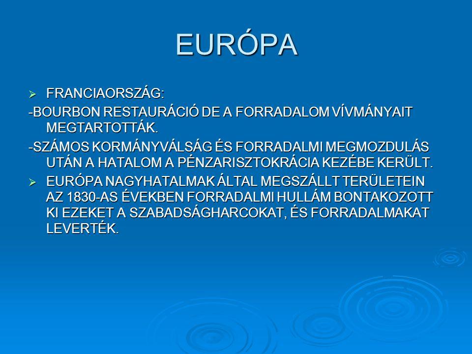 EURÓPA FRANCIAORSZÁG: