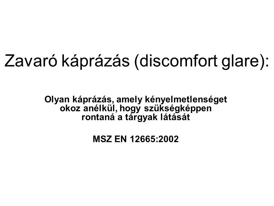 Zavaró káprázás (discomfort glare):