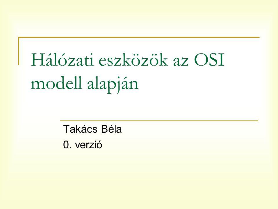 Hálózati eszközök az OSI modell alapján