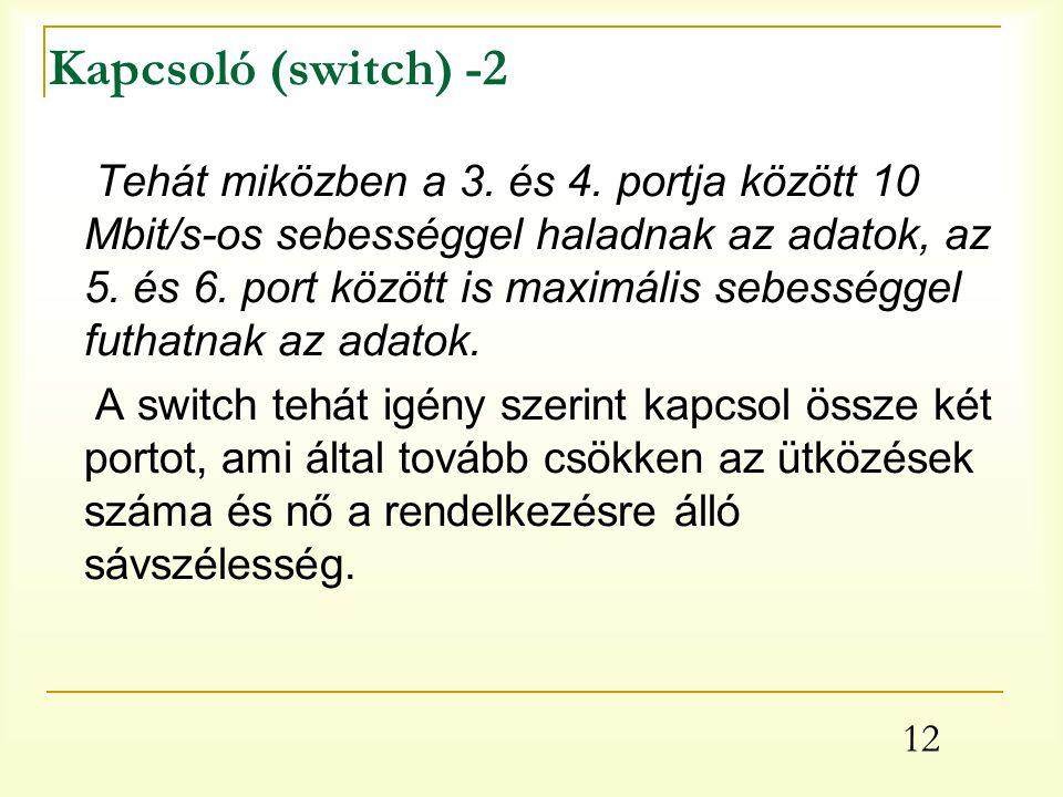 Kapcsoló (switch) -2