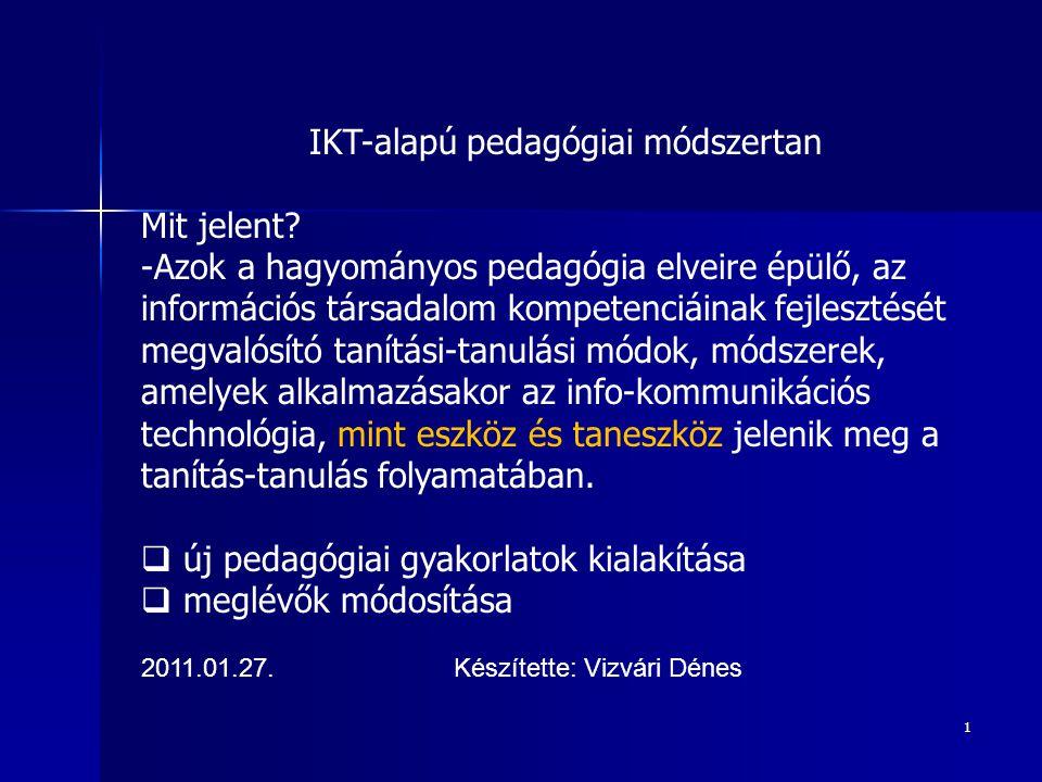 IKT-alapú pedagógiai módszertan
