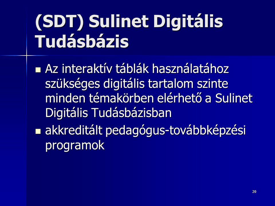 (SDT) Sulinet Digitális Tudásbázis