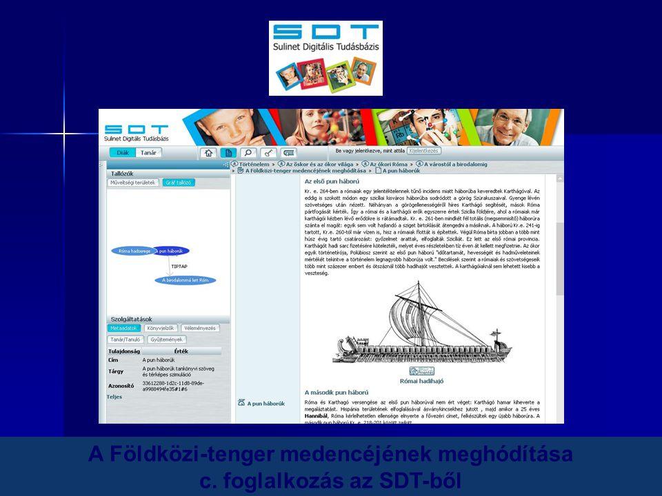 A Földközi-tenger medencéjének meghódítása c. foglalkozás az SDT-ből