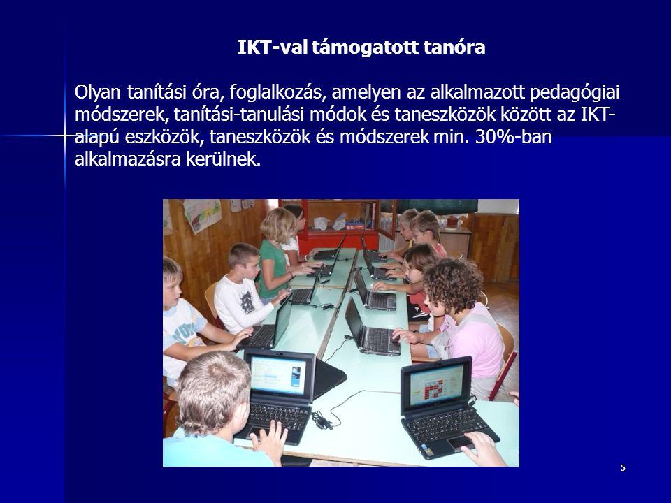 IKT-val támogatott tanóra