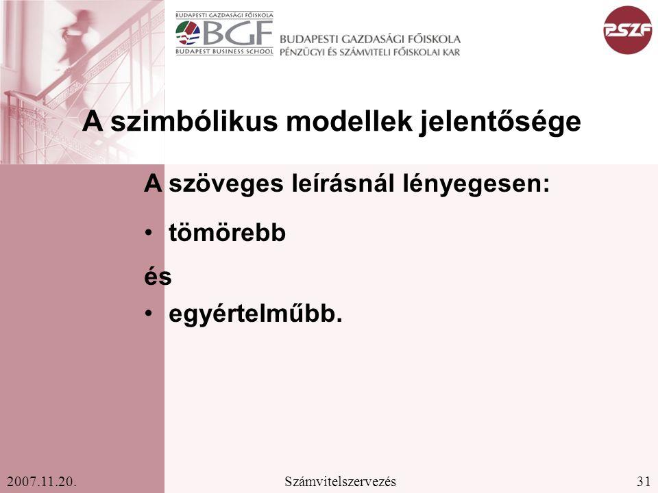 A szimbólikus modellek jelentősége