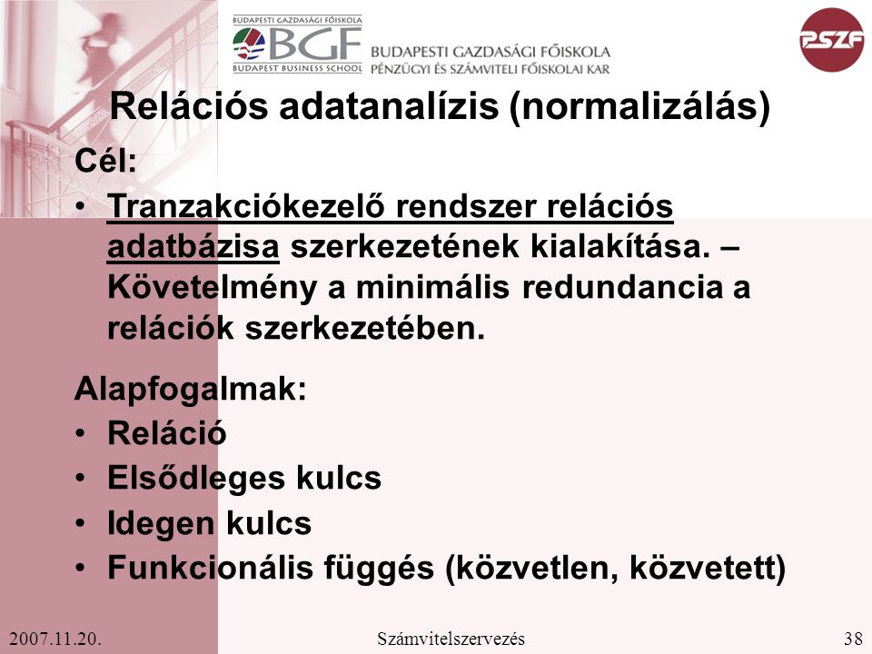 Relációs adatanalízis (normalizálás)