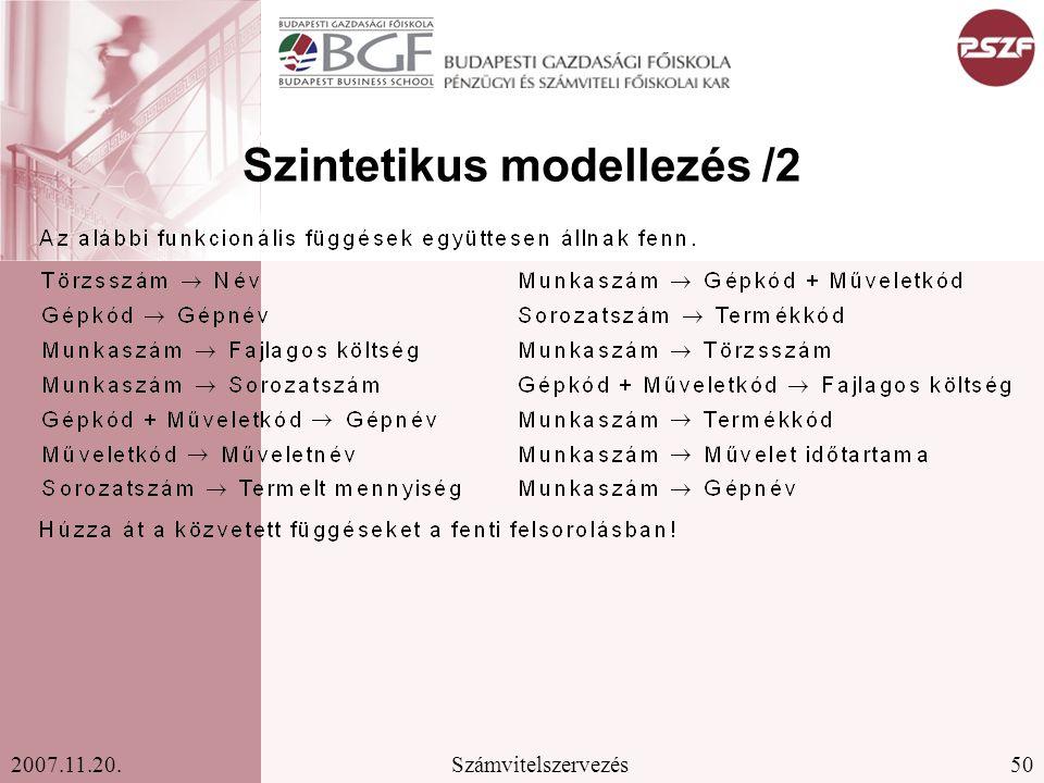 Szintetikus modellezés /2