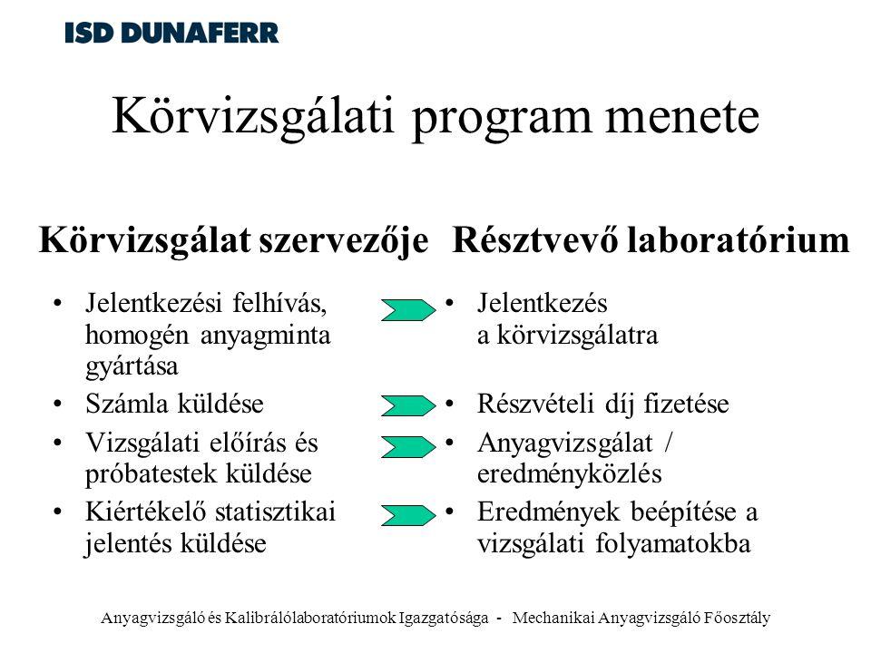 Körvizsgálati program menete