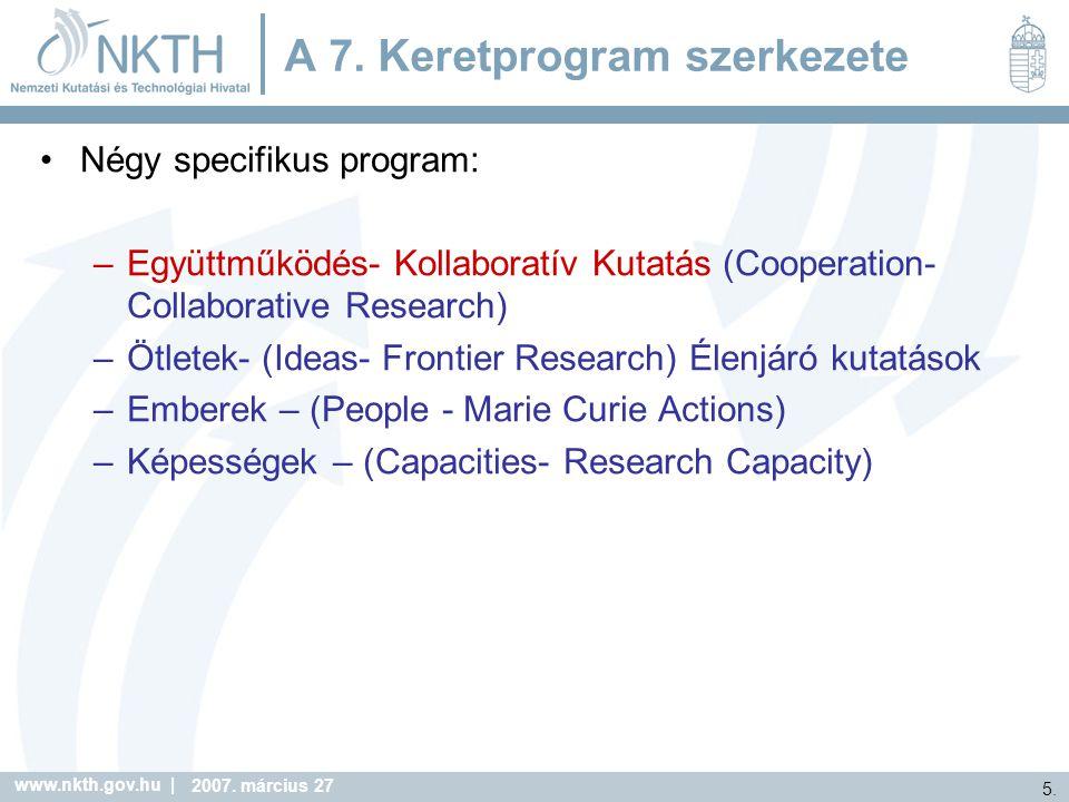 A 7. Keretprogram szerkezete
