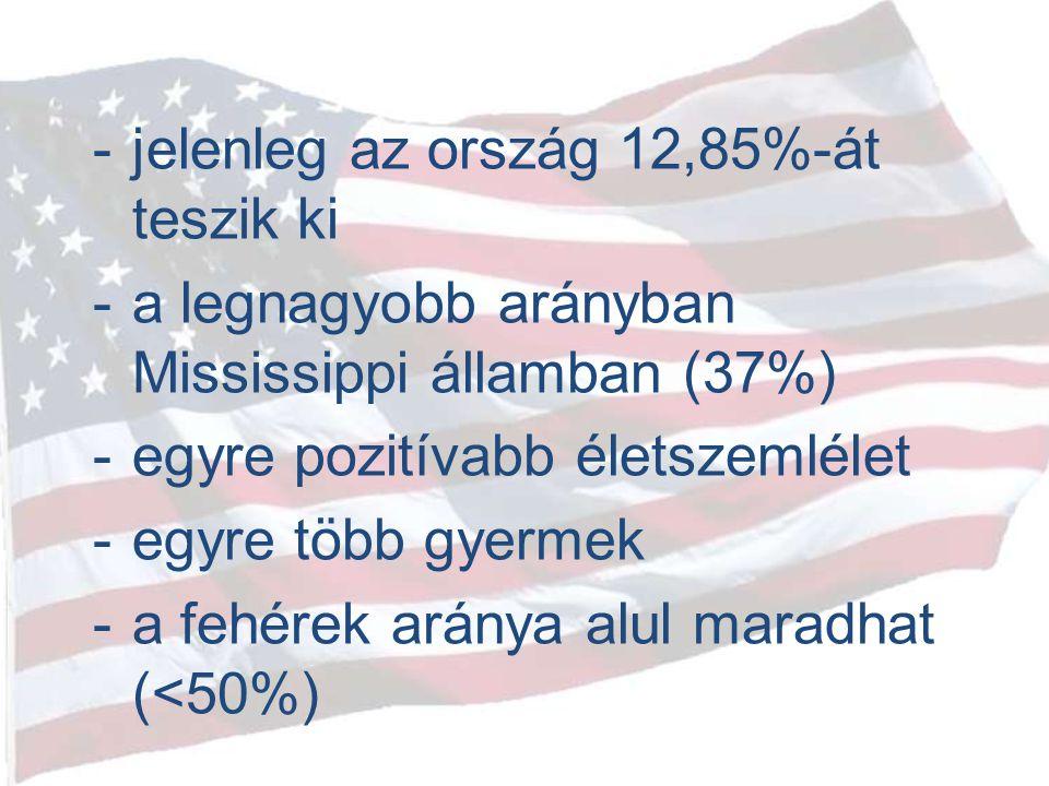 jelenleg az ország 12,85%-át teszik ki